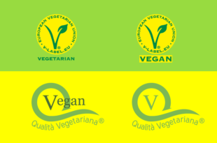 marchi vegan vegatarian v label
