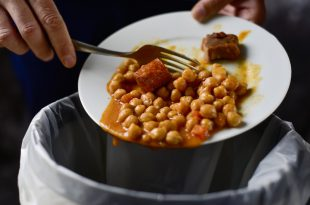 spreco alimentare spazzatura ceci