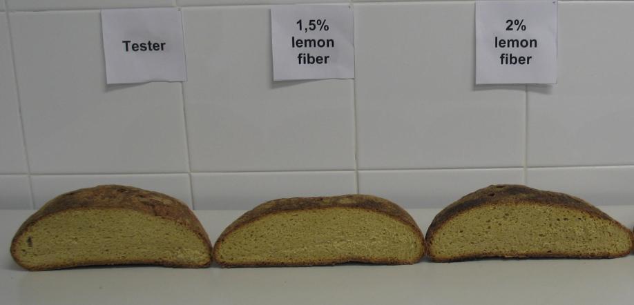 Pane con fibre di limone