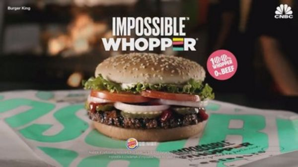 impossible whopper burger king pubblicita