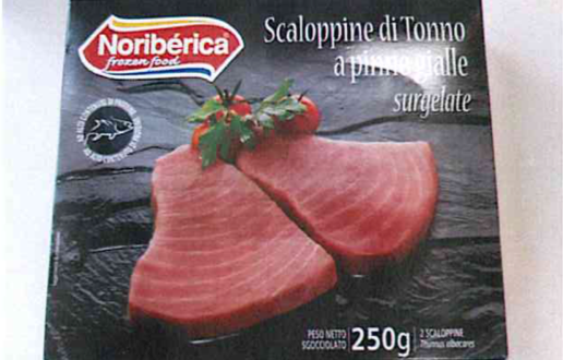 scaloppine tonno noriberica richiamo istamina
