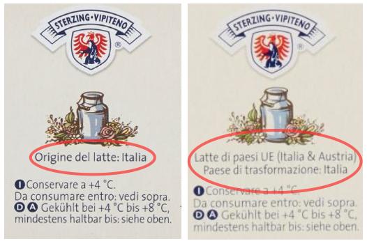 yogurt sapori vipiteno etichetta origine latte