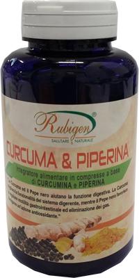 integratore curcuma piperina rubicon