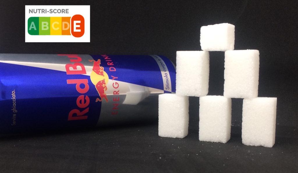 Red Bull zollette zucchero