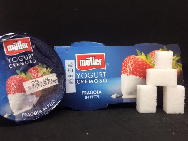 Yogurt muller zollette zucchero