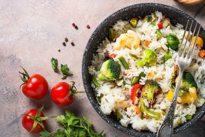 insalata di riso verdure