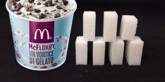 McDonald's: troppo zucchero nel gelato McFlurry. Una coppetta contiene quasi 7 zollette