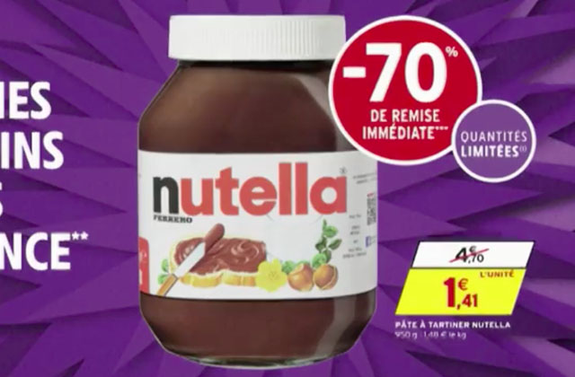 nutella intermarche