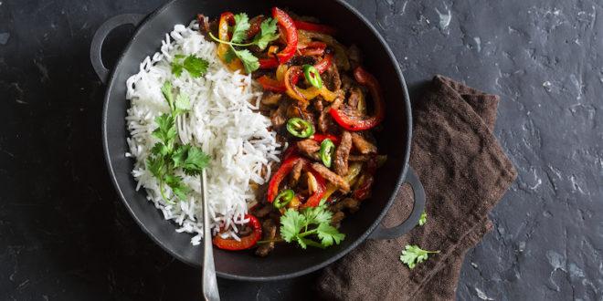 riso carne primo piatto