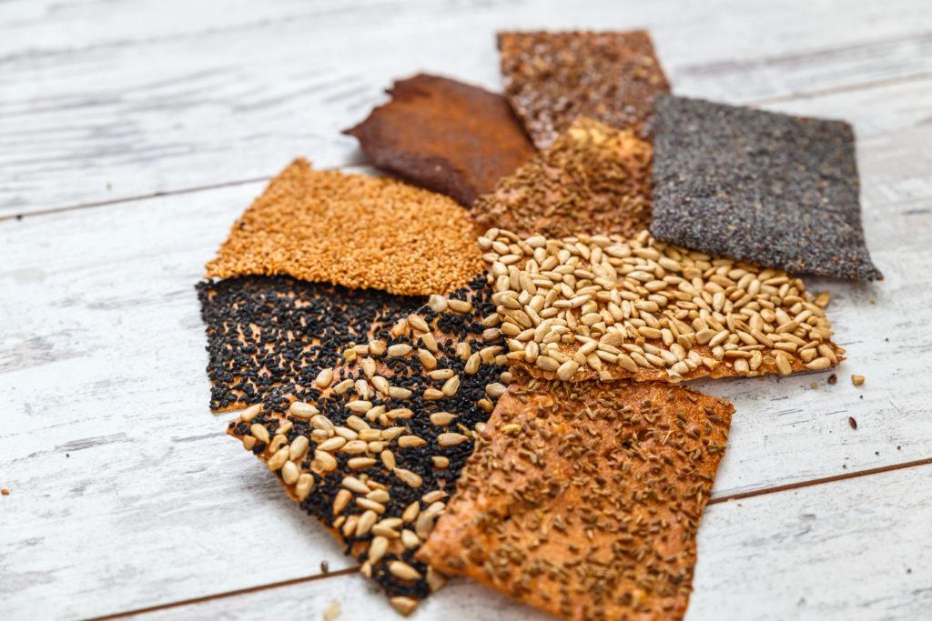 cracker semi di papavero lino sesamo girasole