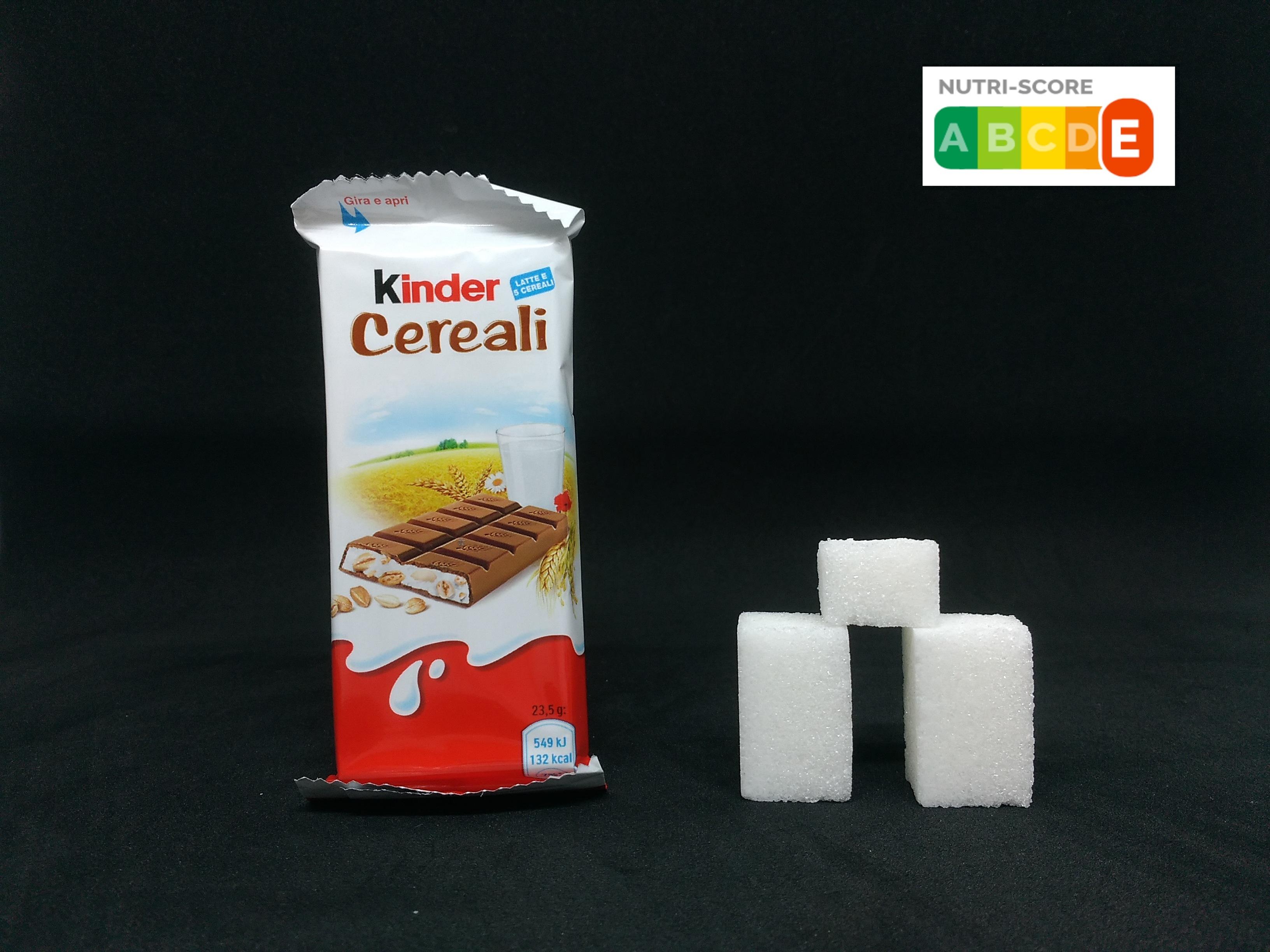 kinder cereali zucchero