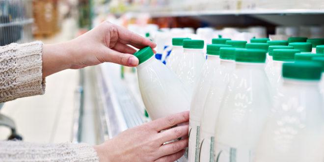latte scaffale supermercato