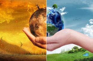 pianeta mano metà distruzione sostenibilità
