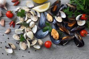 frutti di mare cozze e vongole molluschi