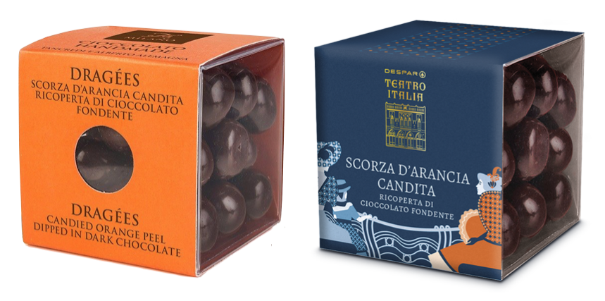 dragees scroza d'aracia cioccolato fondente t'a milano despar