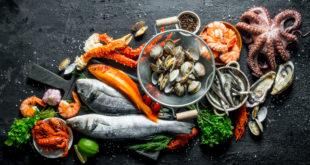 pesce granghio polpo molluschi frutta di mare