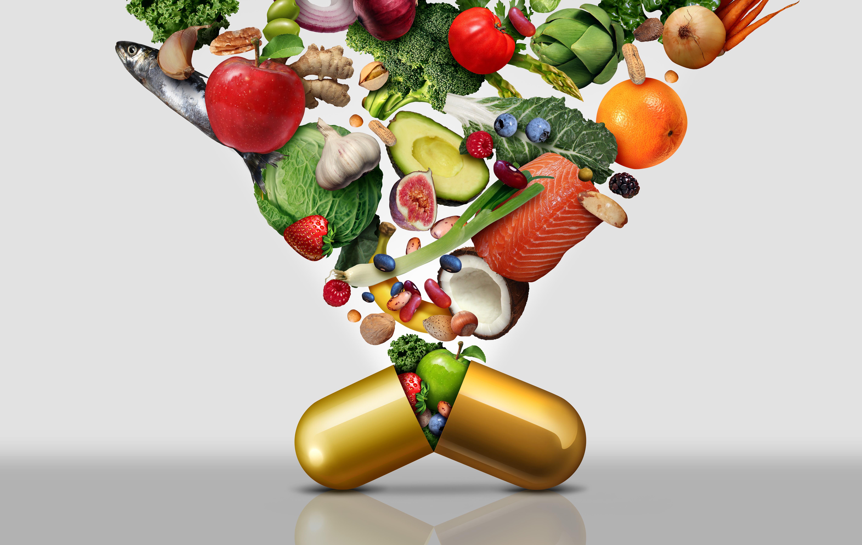 pillola mela broccoli pesce frutta vitamine