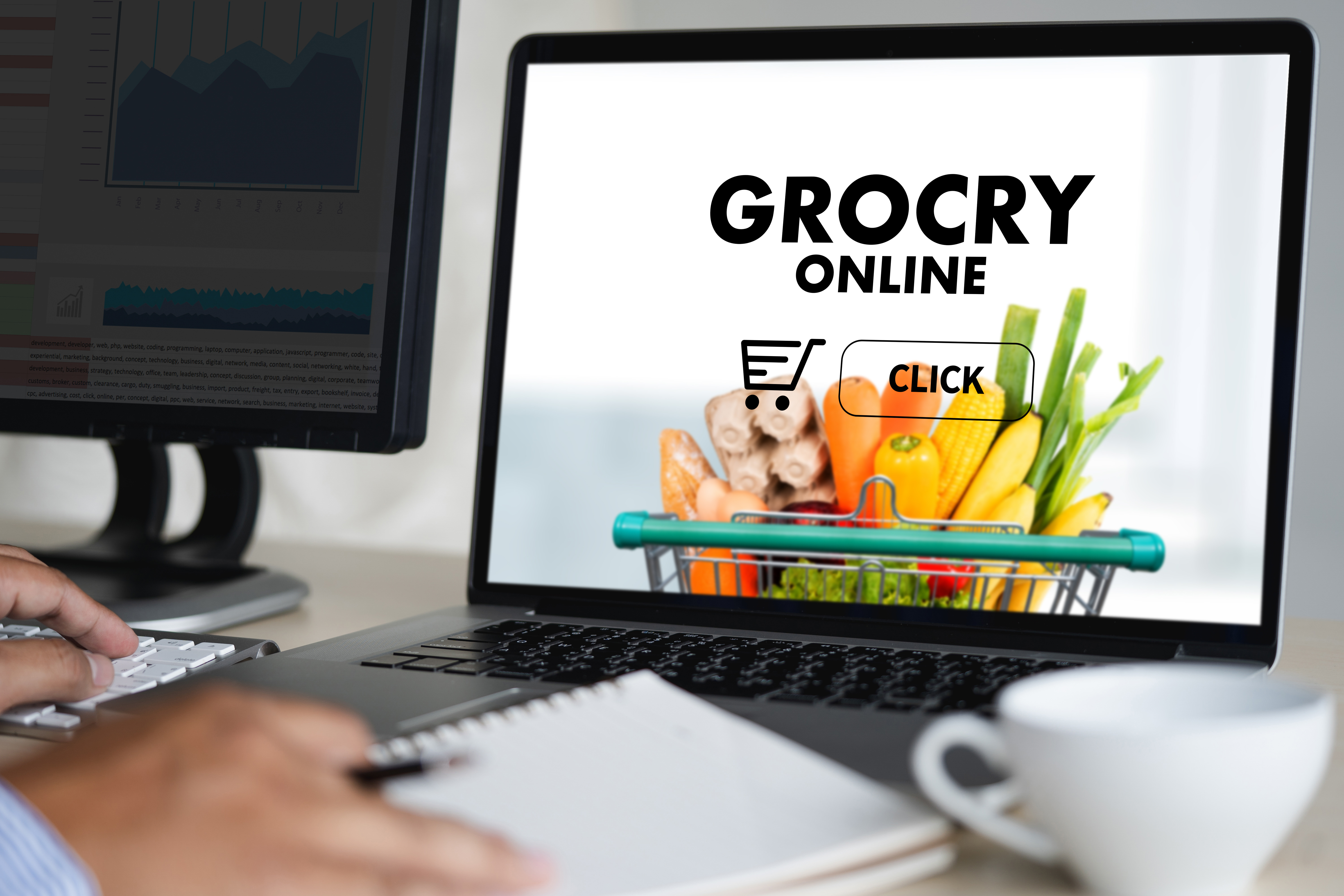 spesa online ufficio computer food and grocery