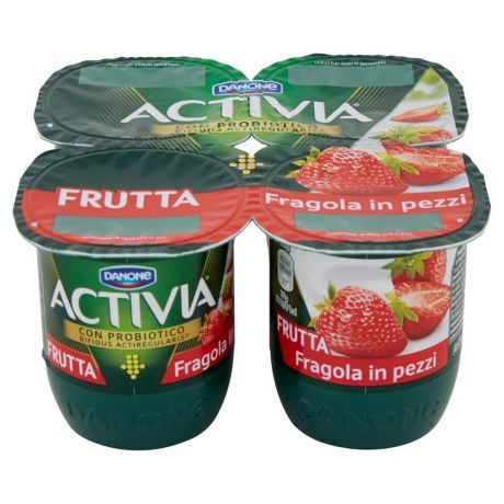 activia fragola in pezzi yogurt