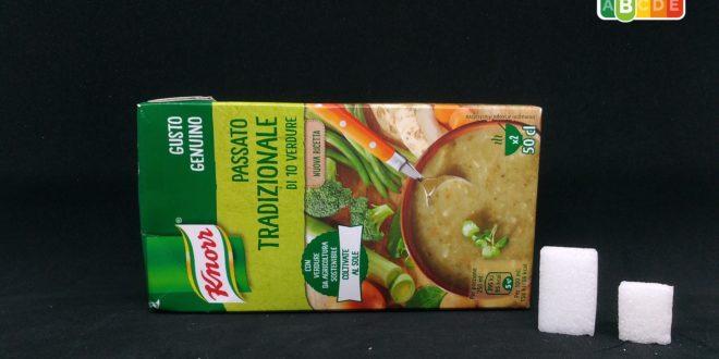 Zucchero nascosto? Nel brick del passato di verdure Knorr ce ne sono 8 grammi