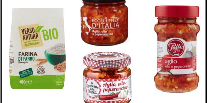 richiami farina farro conad aglio olio peperoncino conserve nonna eccellenze italia polli