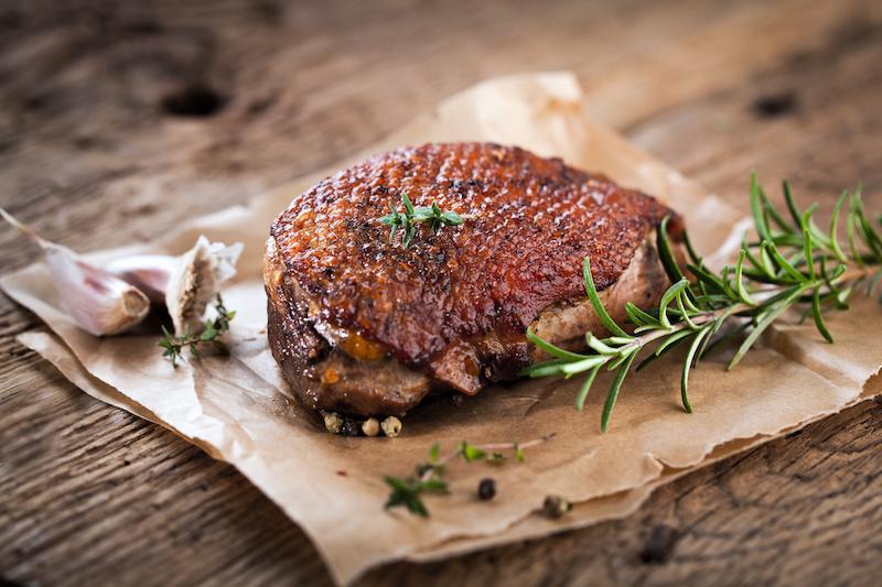 anatra carne duck proteine carta da forno Salmonella