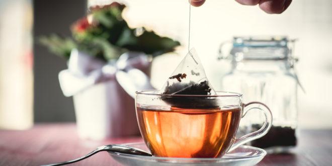 Someone preparing tea