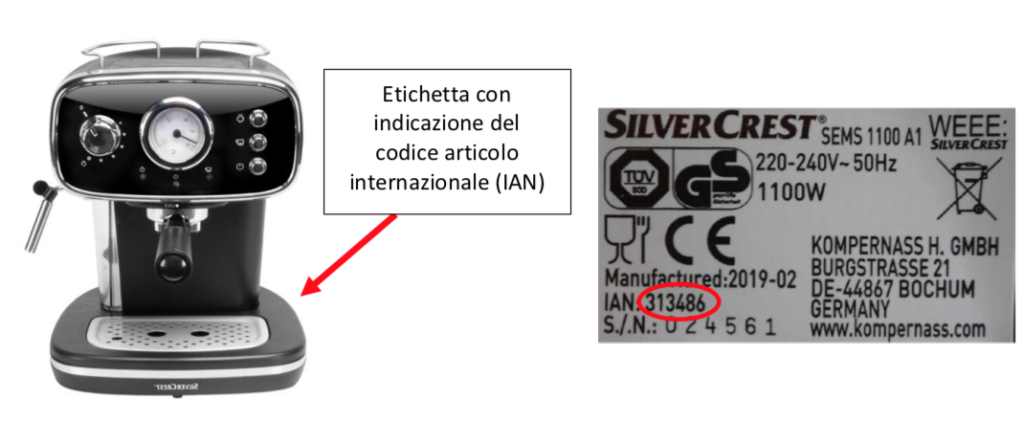 macchina caffe lidl silvercrest etichetta