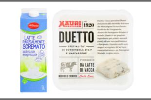 latte milbona lidl gorgonzola mascarpone duetto mauri richiamo