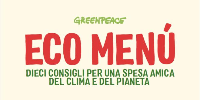 eco menu Greenpeace