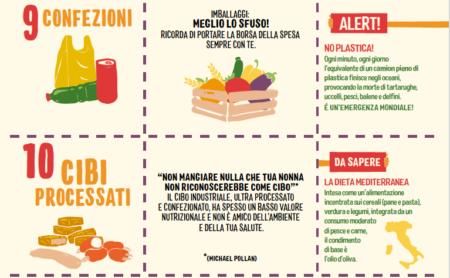 eco menu greenpeace confezioni cibi processati alimentazione sostenibile Alimentazione sostenibile, il decalogo di Greenpeace eco menu greenpeace confezioni cibi processati 450x278