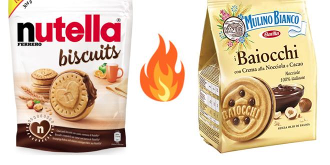 Nutella biscuits o Baiocchi? La guerra dei biscotti tra Ferrero e Barilla è iniziata. Ma sarebbe meglio parlare di pasticcini
