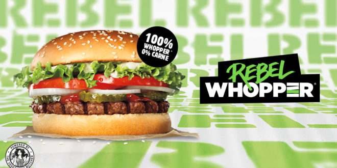 Burger King lancia l'hamburger vegetariano Rebel Whopper in 25 paesi europei grazie a un accordo con Unilever