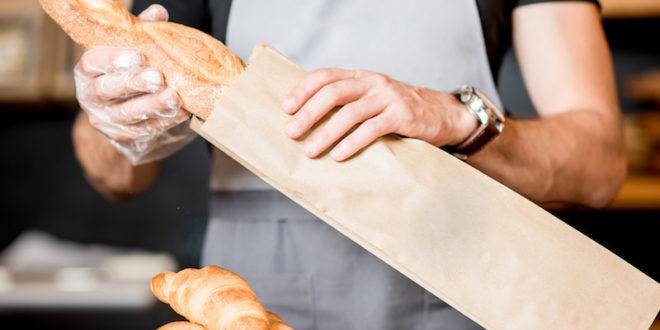 carta pane sacchetti panettiere supermercato baguette