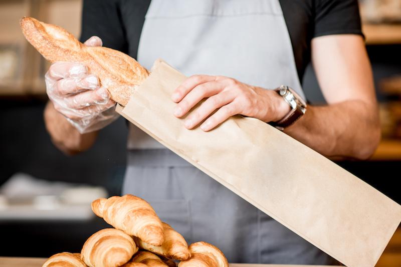 carta pane sacchetti panettiere supermercato baguette etichette