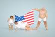 dolcificanti, famiglia di obesi con bandiera americana
