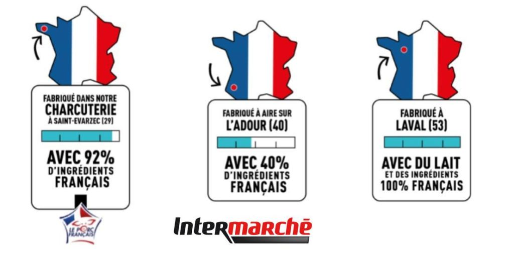 Franco-Score etichetta di origine intermarché made in France