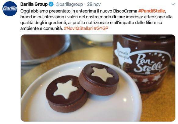 barilla twitter biscocrema pan di stelle