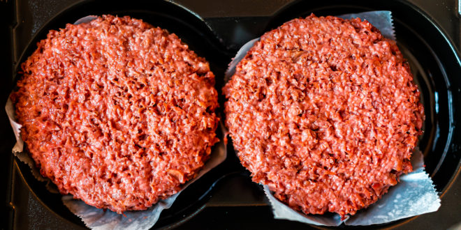 carne finta fake meat burger