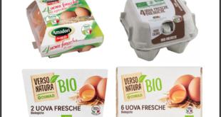 richiamo uova biologiche amadori cascina italia conad