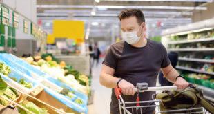 coronavirus mascherina supermercato spesa