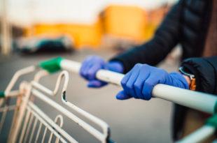 coronavirus carrello guanti spesa supermercato