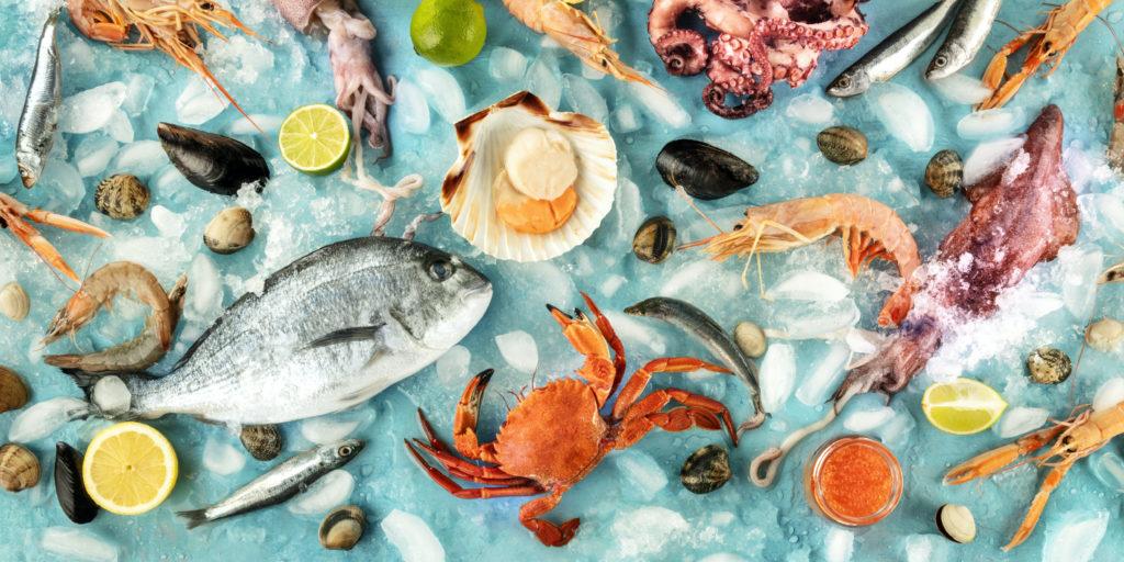 pesce molluschi crostacei