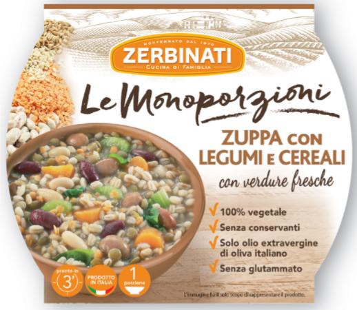 zerbinati zuppa monoporzione legumi cereali