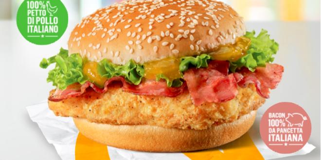 mcdonald's pollo bacon italiano