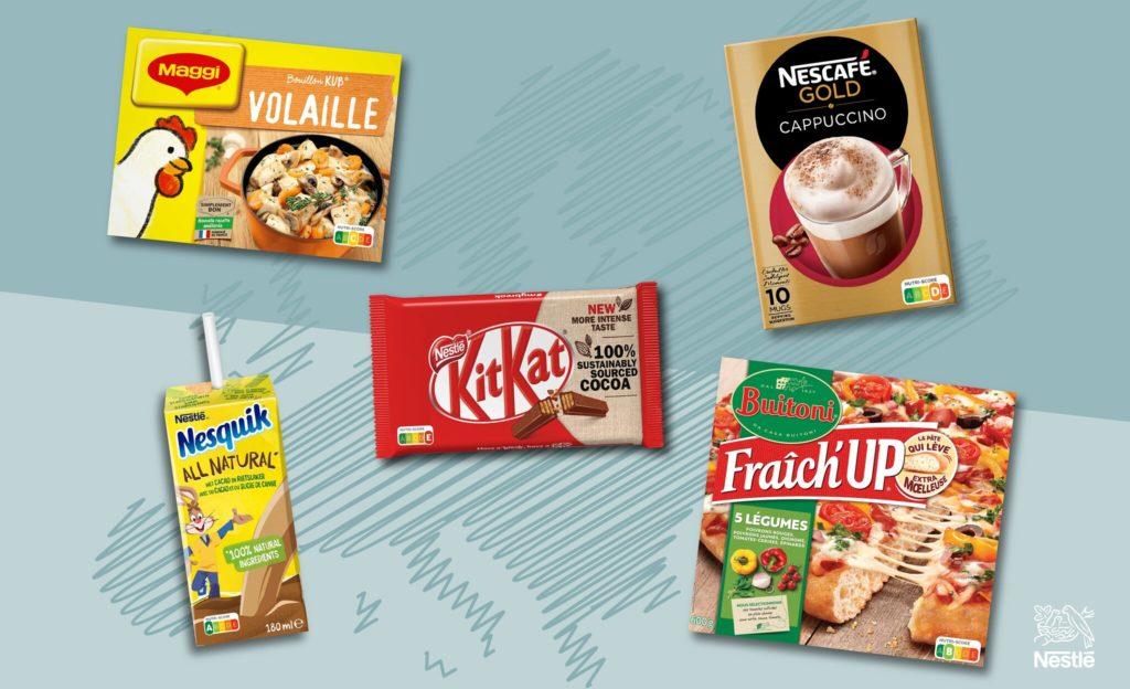 nestle nutri-score prodotti assortiti