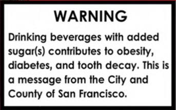 warning label bevande zuccherate