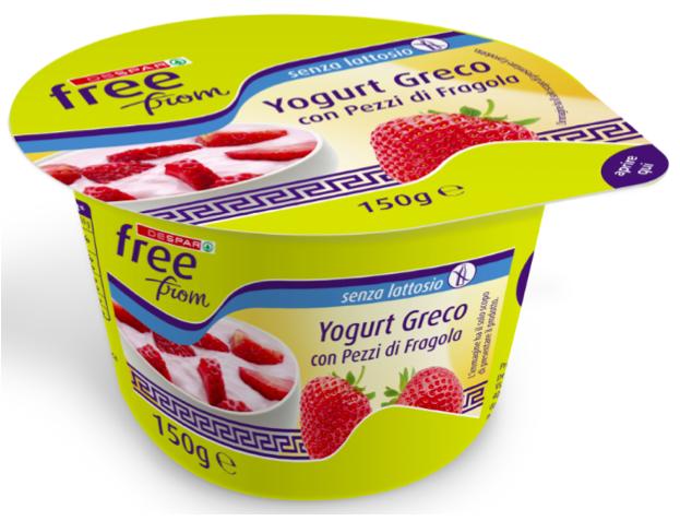 yogurt greco fragola senza lattosio despar