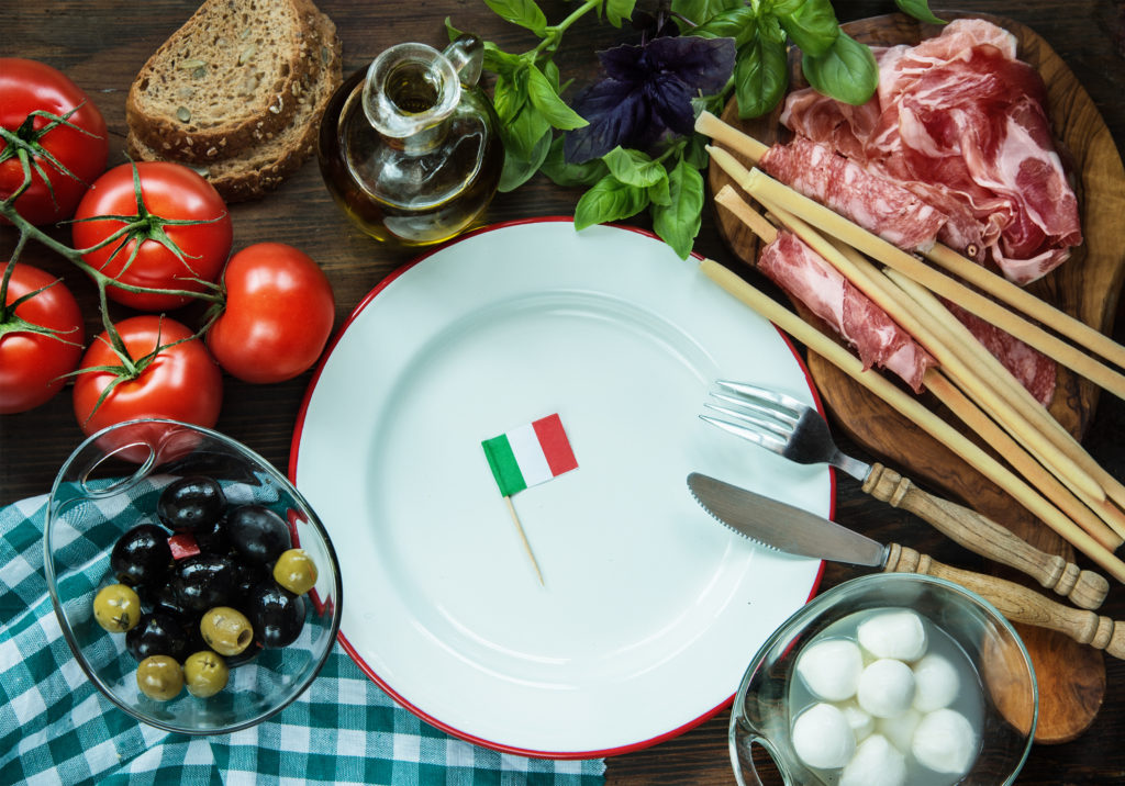 cibo italiano bandiera