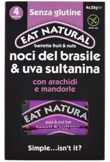 multipack barrette noci brasile uvetta eat natural
